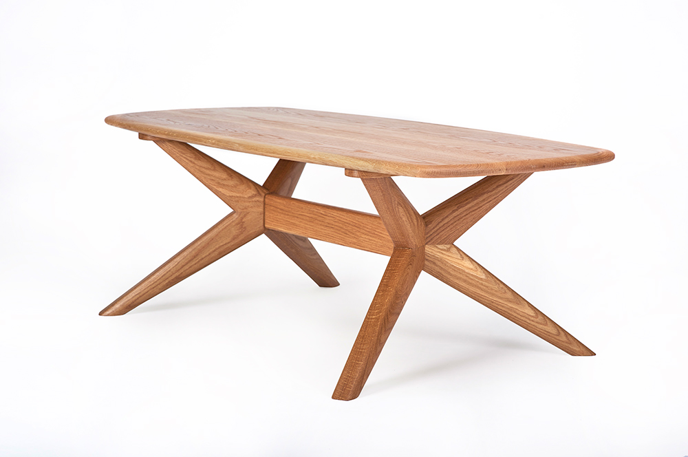 Contemporary Furniture - The Chantry oval coffee table in Oak - Charlie Caffyn Furniture