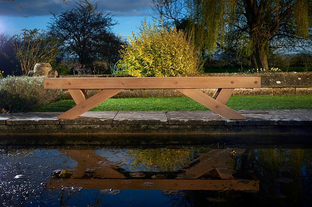 The Whitehill garden bench - Charlie Caffyn Furniture