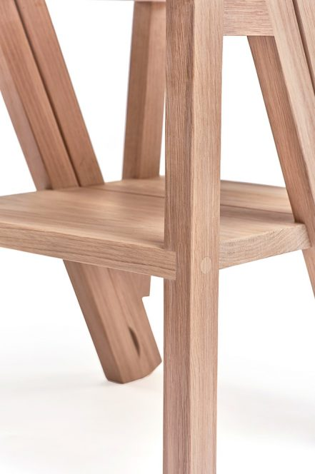 The Iford library steps chair - Charlie Caffyn Furniture