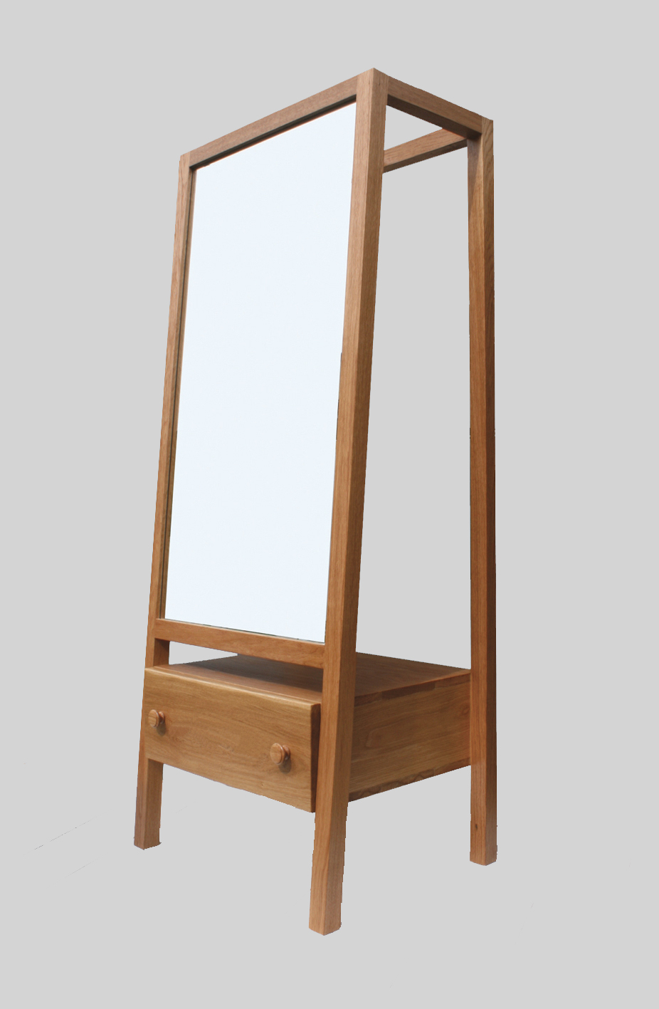 charlie-caffyn-designs-free-standing-oak-mirror-dressing-cabinet-with-drawer
