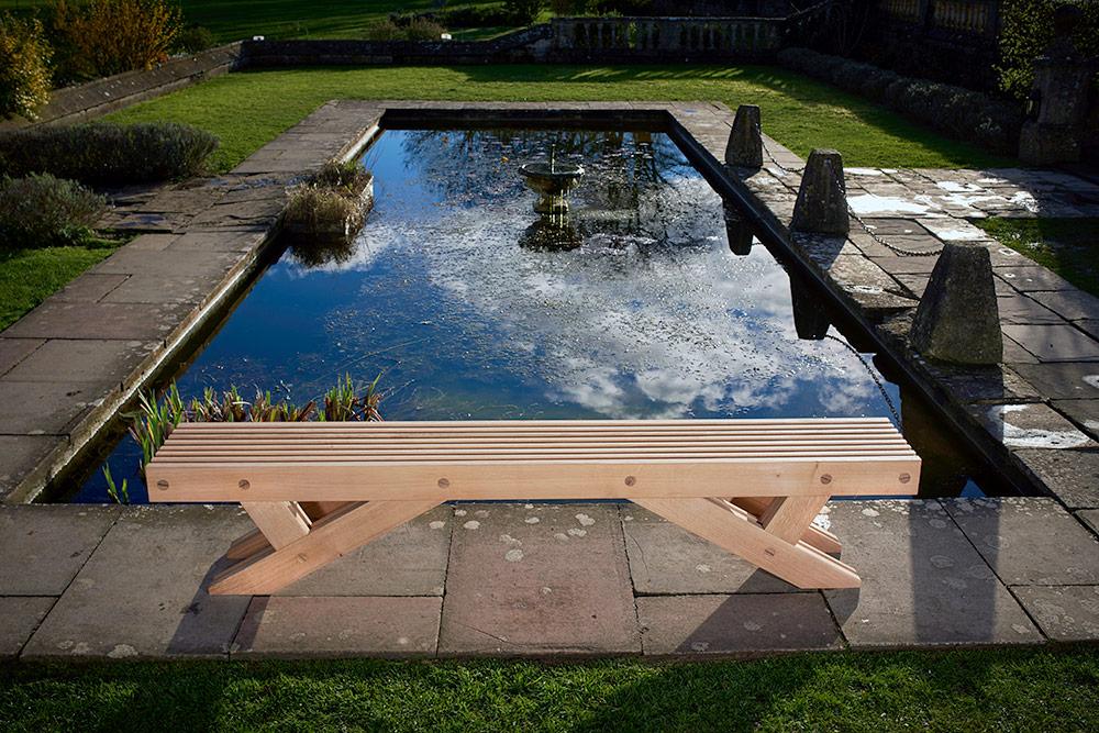 The Whitehill Garden Bench in Oak