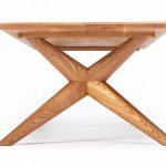 Chantry rectangular coffee table in oak by Charlie Caffyn modern british furniture designer maker