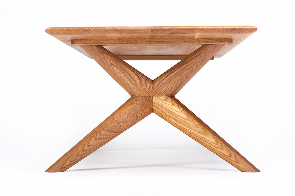 Contemporary Furniture - The Chantry rectangular coffee table in Oak - Charlie Caffyn Furniture
