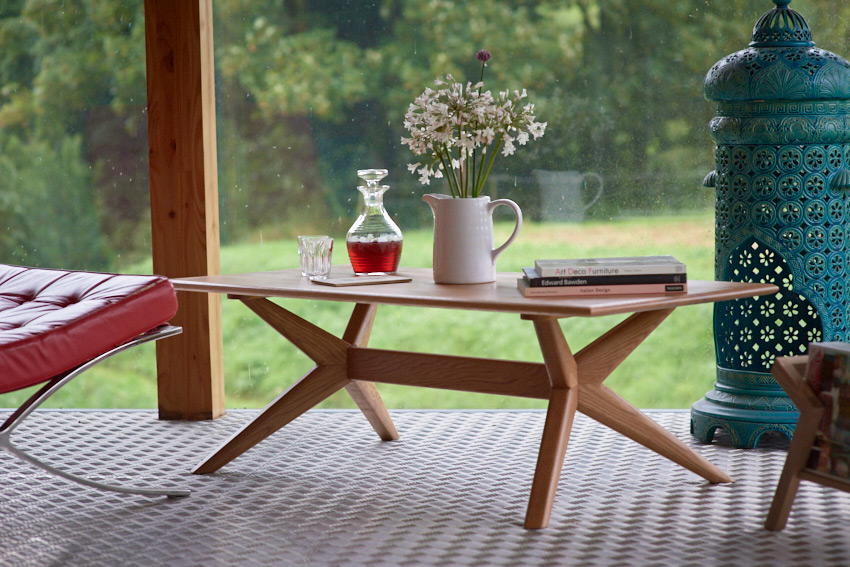The Chantry rectangular coffee table in Oak - Charlie Caffyn Furniture