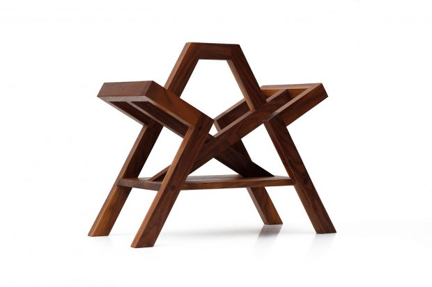 The Farleigh Magazine Rack in Walnut